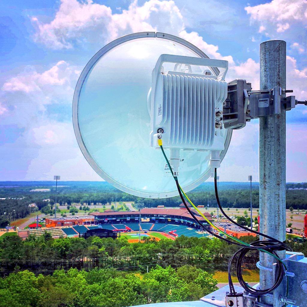Wireless antenna on building