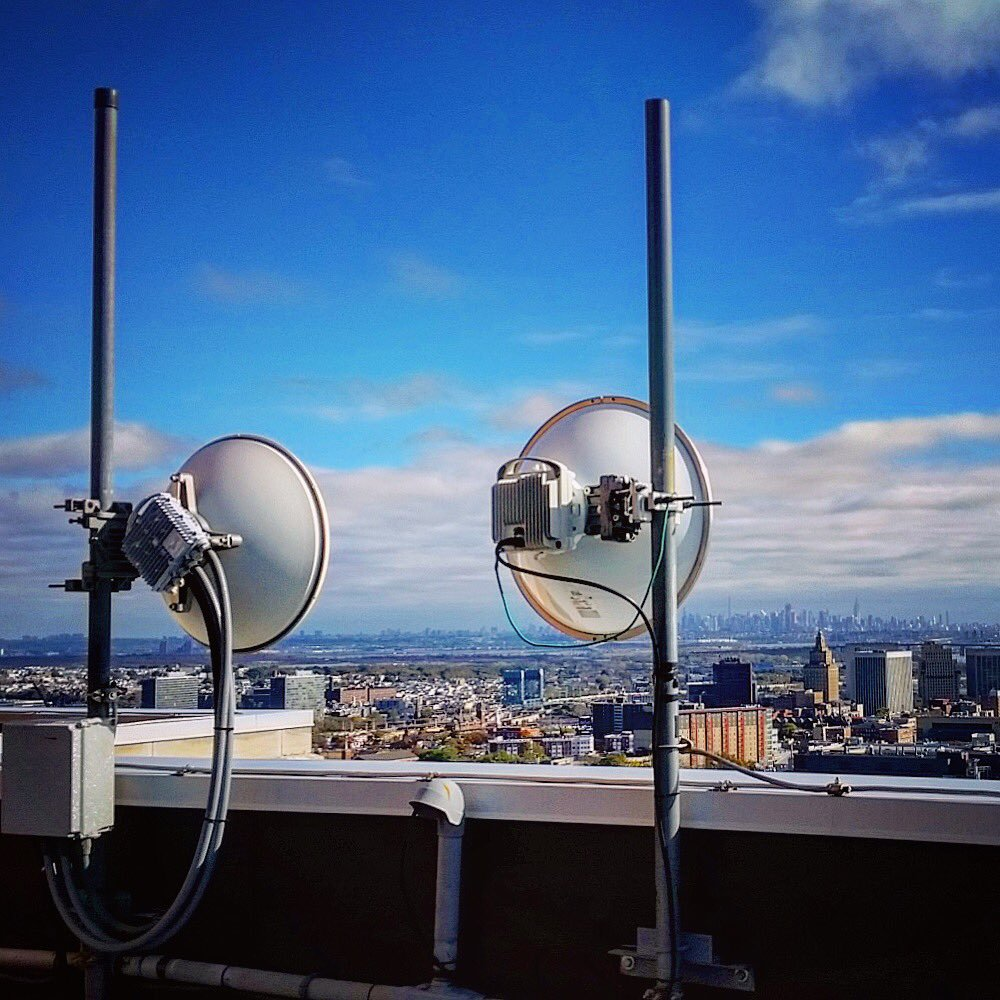 Wireless antennas on building