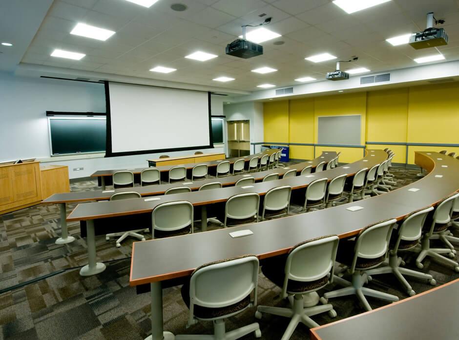 Audio visual equipment in classroom