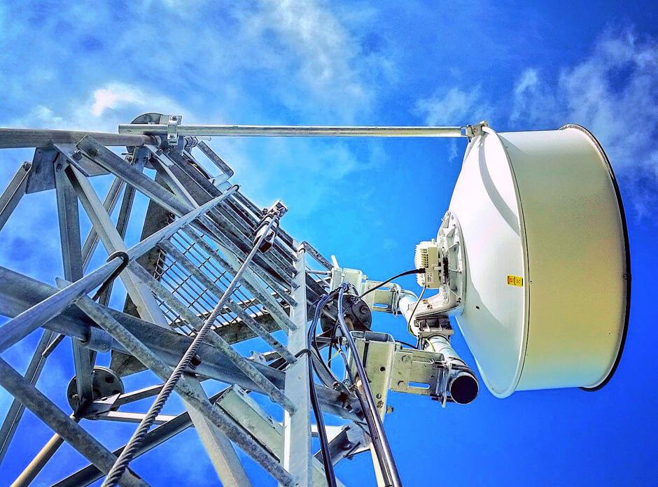 Wireless antenna on tower